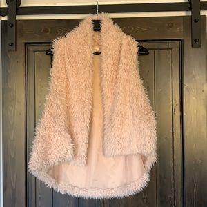 Khaki Faux Fur Vest Size Small